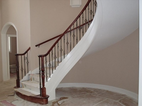 The Treatment Of Structure Curved Stairs Designs